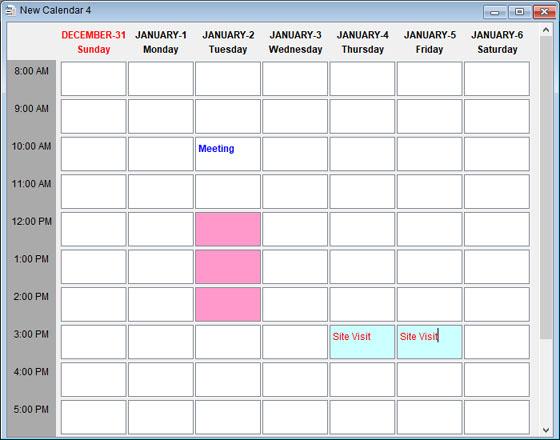 Monthly Calendar Weekly Calendar Monday Through Friday