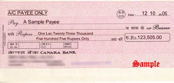 How to Fill State Bank of India (SBI) Cheque
