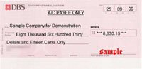 Singapore DBS Bank Cheque Thumbnail