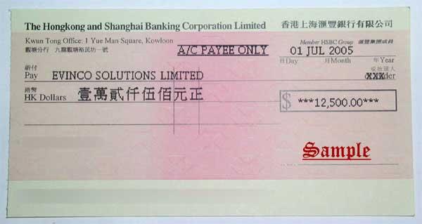 美国银行现金支票_划线支票样本图片图片展示_划线支票样本图片相关图片下载
