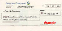 Standard Chartered Bank Cheque Thumbnail