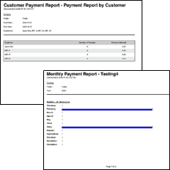EasyBilling has several report for analysis