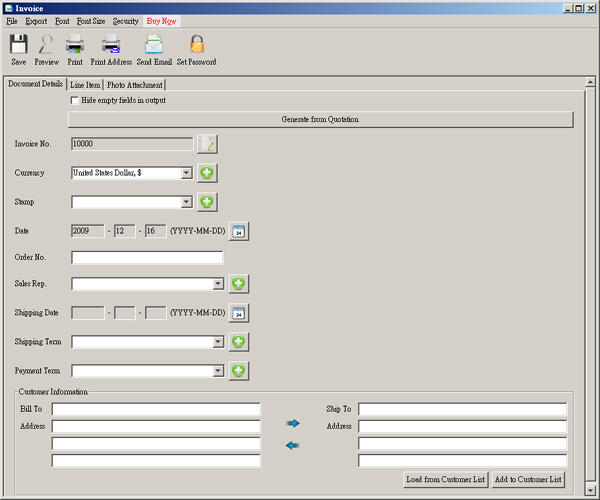 EasyBilling Software Screenshot