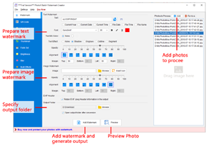 How to use PhotoX Batch Watermark Software