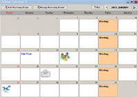 Monthly Calendar - Smart Calendar Software