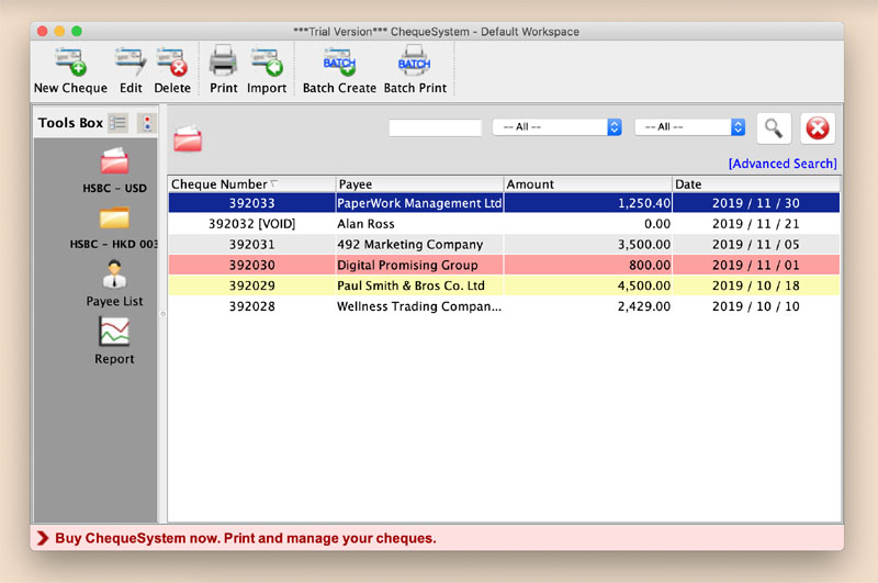 See more of ChequeSystem Cheque Printing Software for Mac