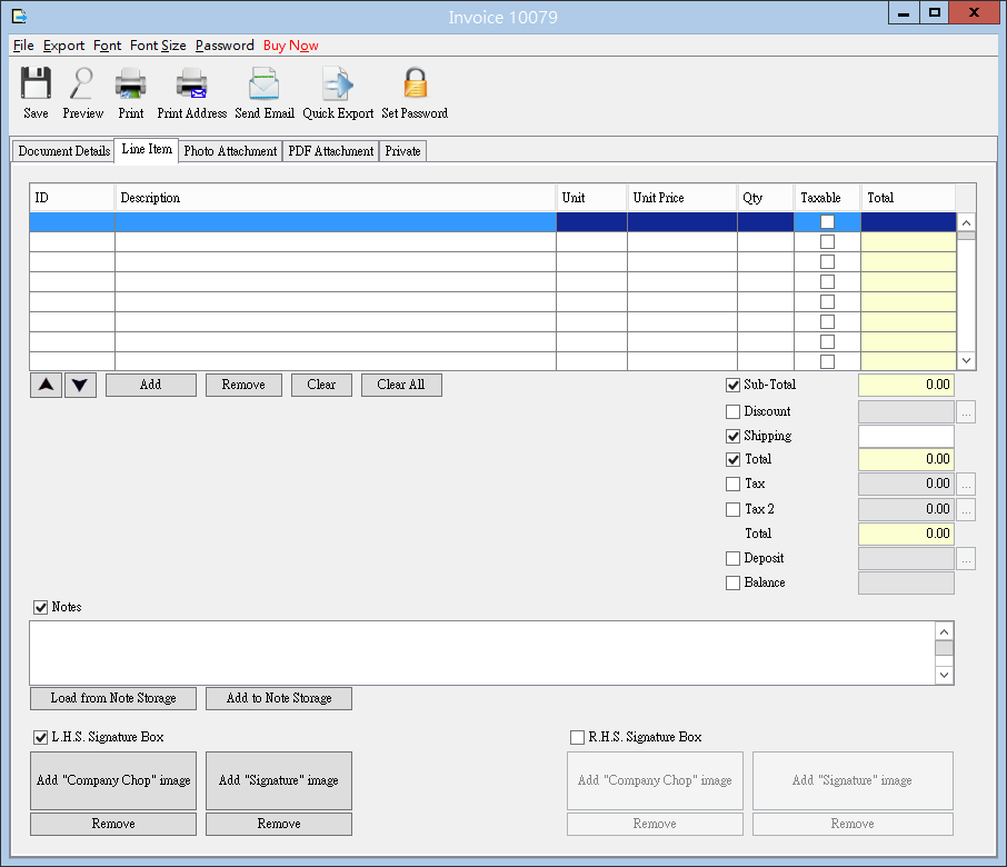 easybilling software quotation invoicing receipt delivery note