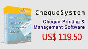 ChequeSystem Cheque Printing Software and management too