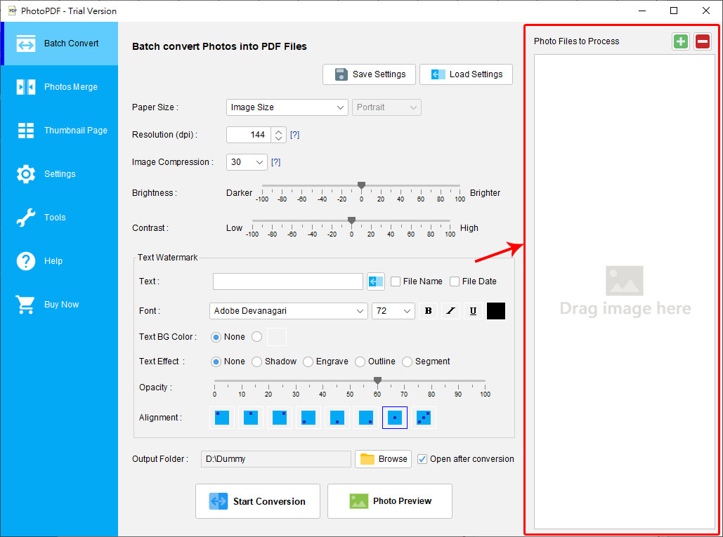 Add File to Process | PhotoPDF Photo to PDF Converter User Guide